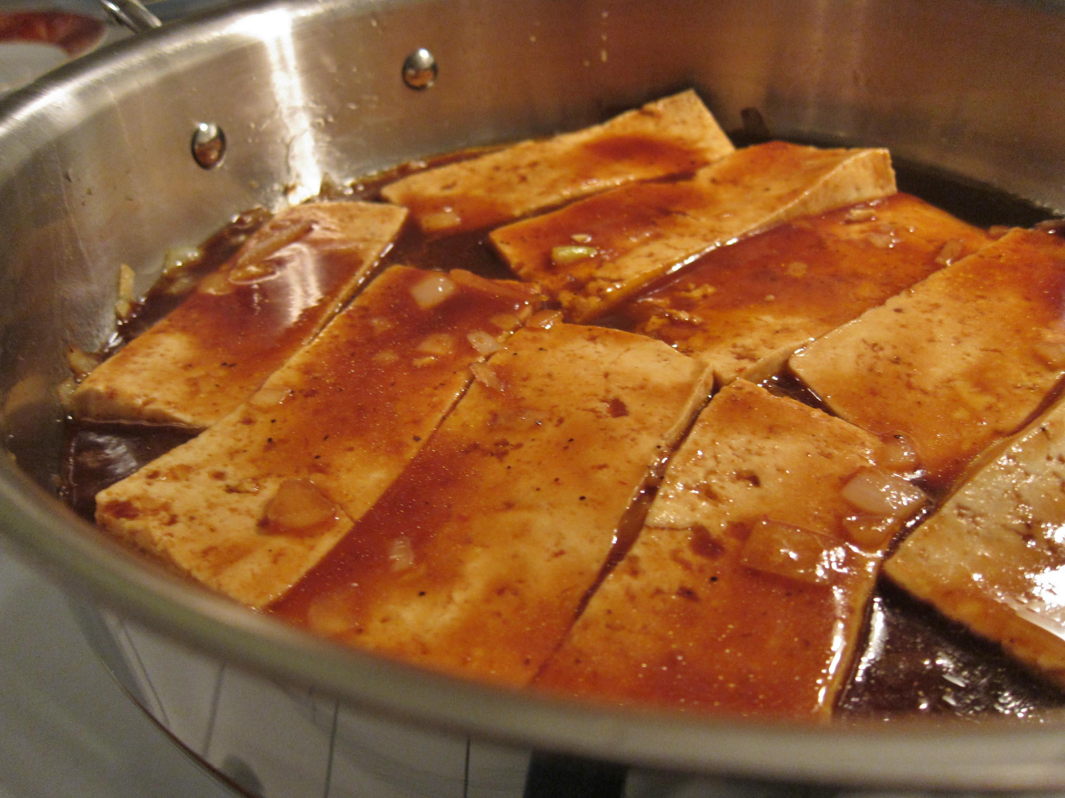 Bbq Sauce With The Sauce Tofu Bbq
