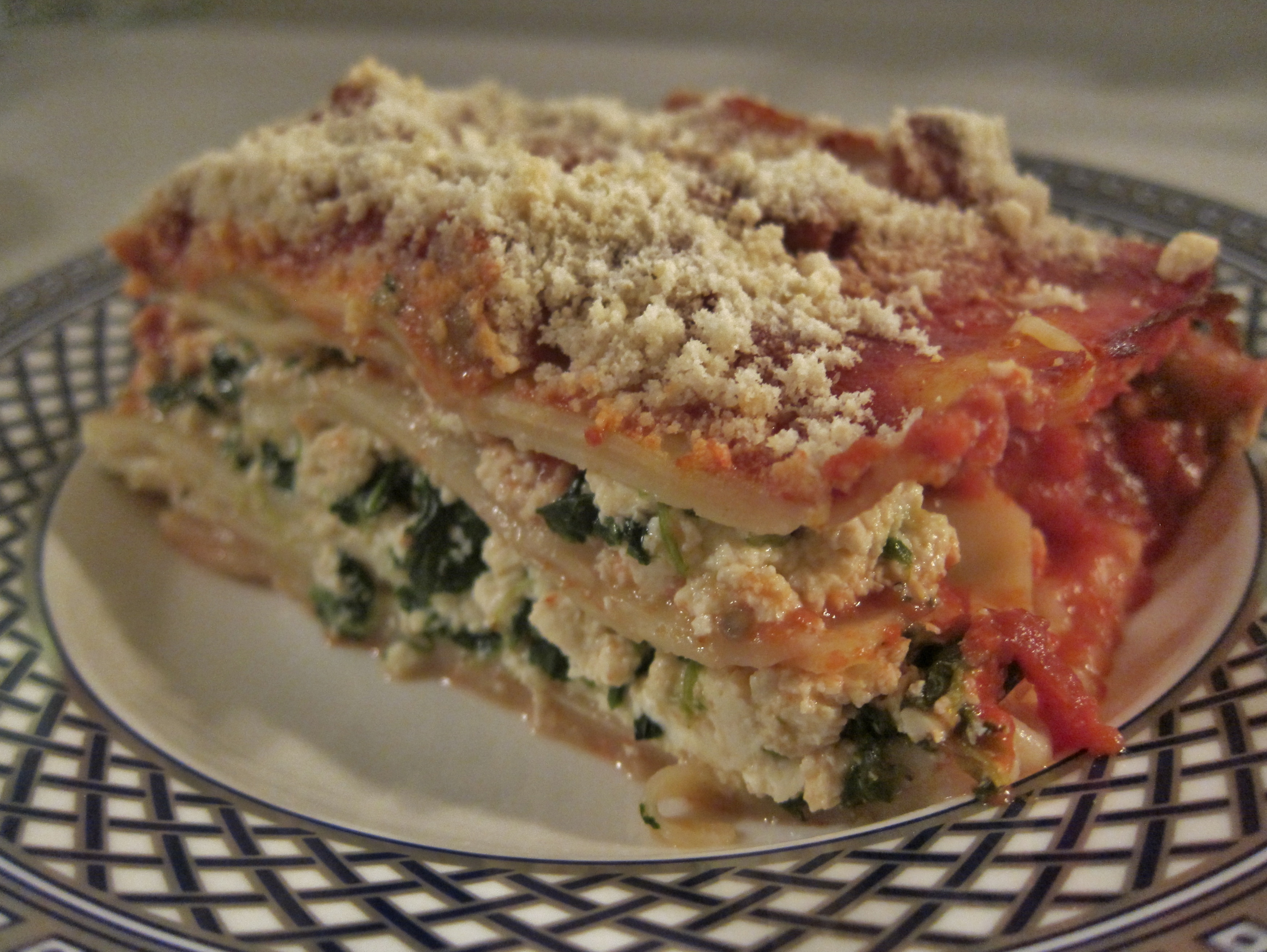 your lasagna by making eggplant part of the sauce and folding spinach ...