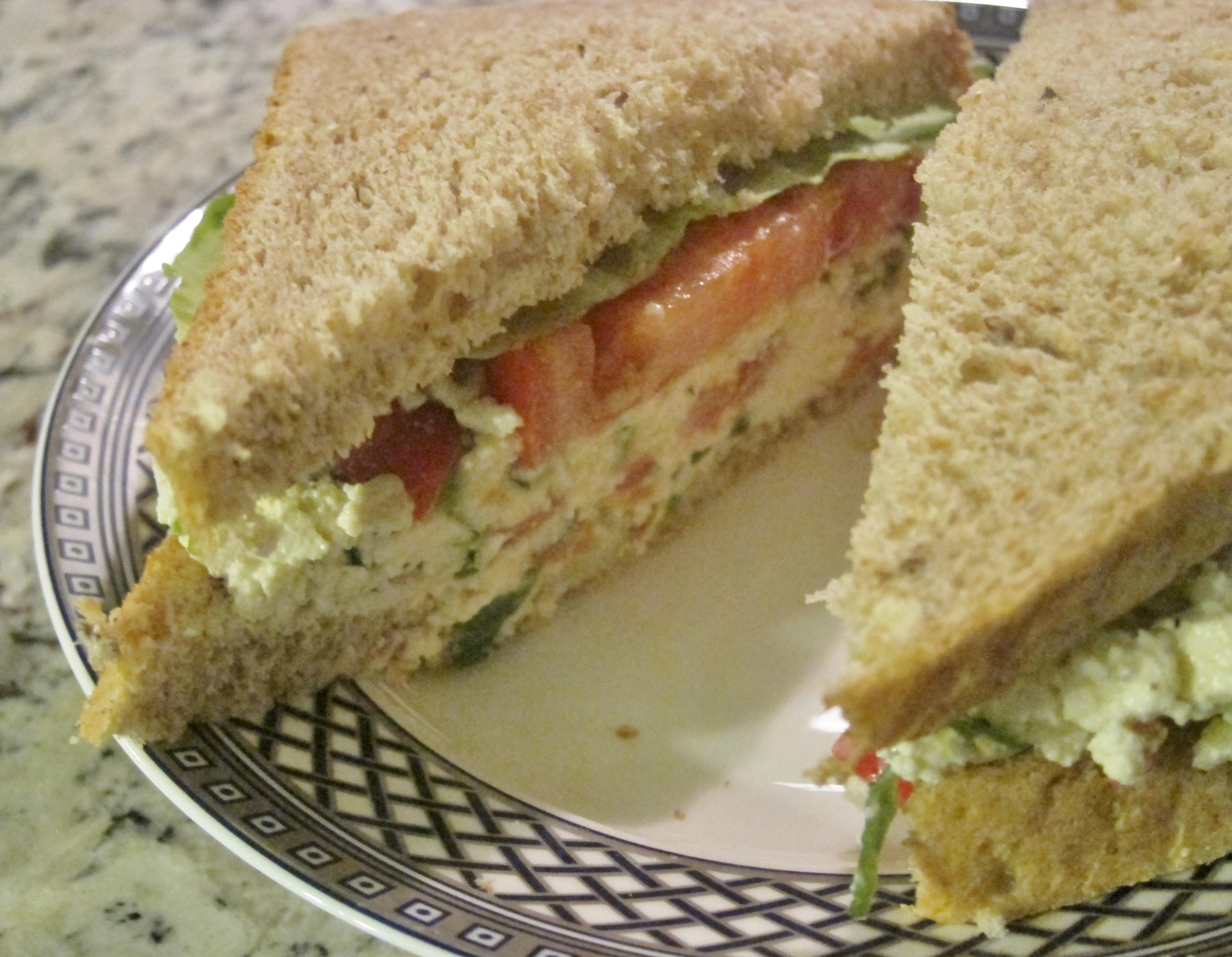Garden Patch Sandwiches on Multigrain Bread | Vegan Chronicle